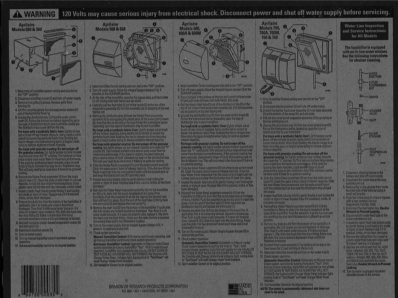 How To Change Your Water Panel Aprilaire Humidifier 760 Wiring Diagram 35