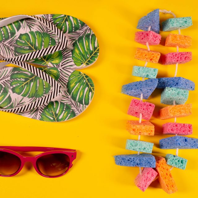 Keep Cool at the Pool with a Hawaiian Luau and Sponge Leis