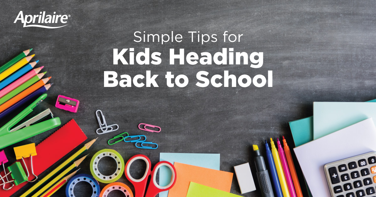 Tips for kids heading back to school.