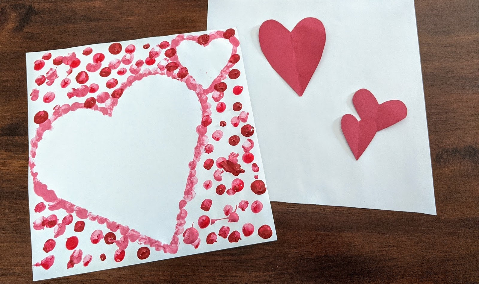 Easy Kids Crafts Valentine S Day Negative Space Hearts