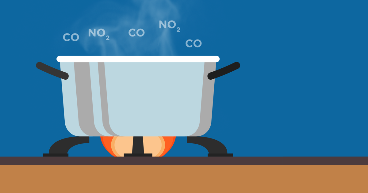 air pollution in the kitchen